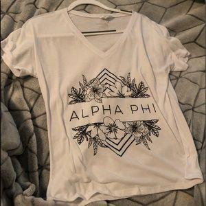 Tops - White alpha phi tee